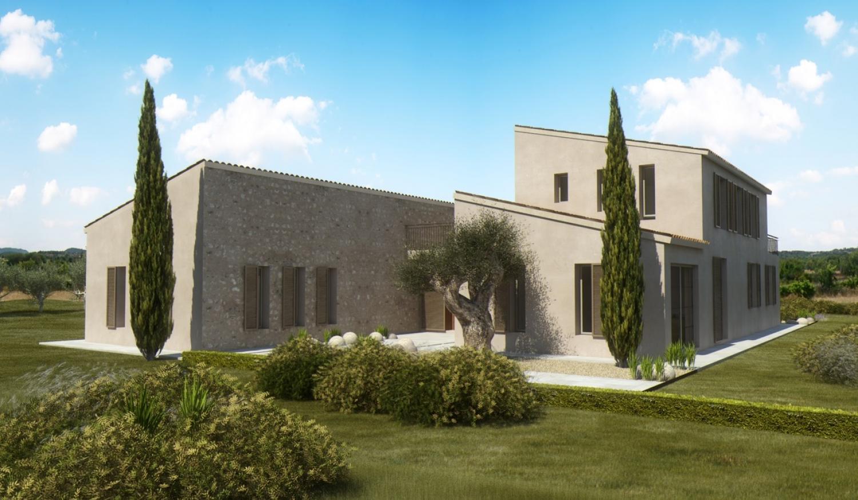 Designer-Finca mit tollem Blick auf Santanyi   Bauen auf Mallorca ...