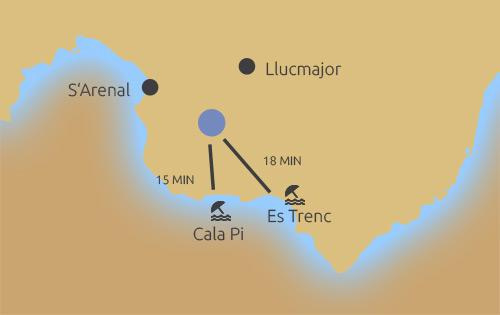 Lage der Finca