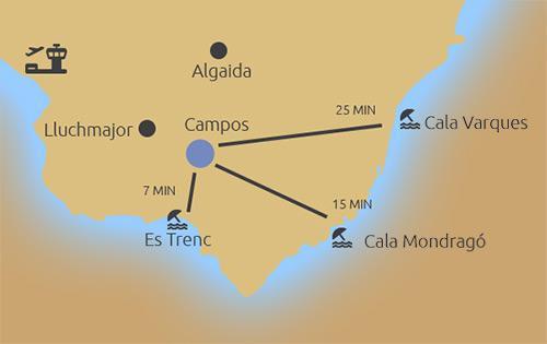 Karte Baugrundstück Campos