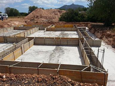 Baubeschreiubung- Fundament