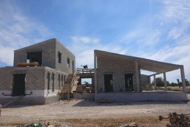 Baufortschritt der Designerfinca in Santanyi am 21. Mai 2019