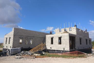 Baufortschritt der Designerfinca in Santanyi im März 2019