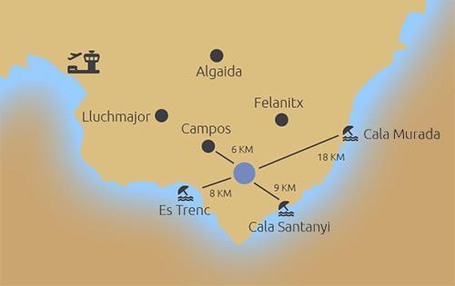 Karte Baugrundstück Ses Salines