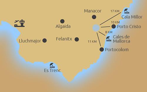 In den Bergen von Son Macia mit traumhaftem Fernblick - map